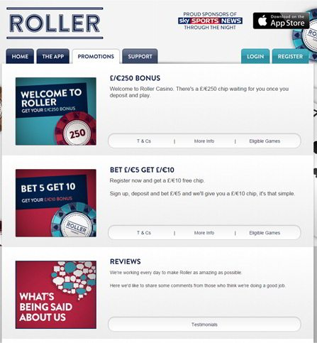 Download the Roller Casino App for iPhone, iPod Touch and iPad