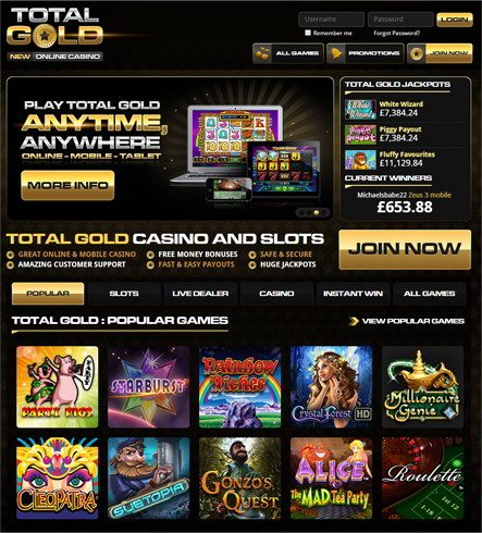 Get Free Money Bonuses at Total Gold
