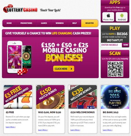 Fantastic Mobile Offers at Lottery Casino