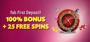 free spins deposit match welcome bonus