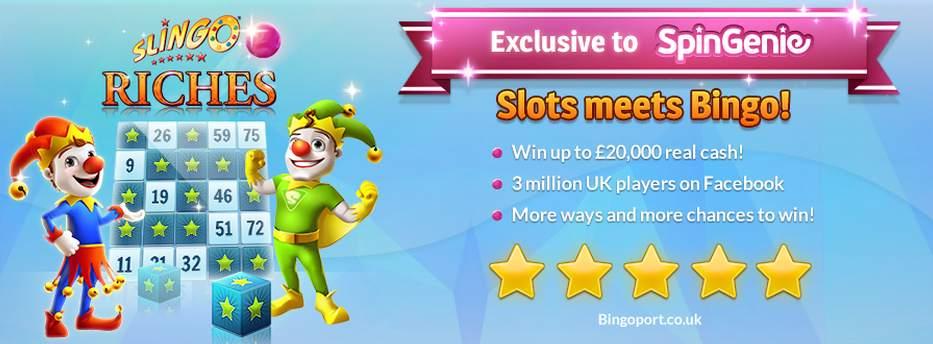 Slingo Slots Spin Genie Free Spins No Deposit