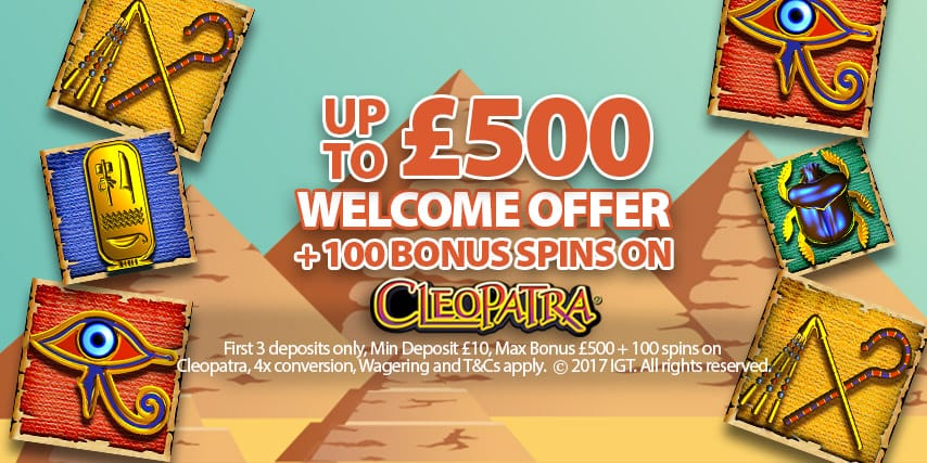 Up To £500 in Casino Bonuses