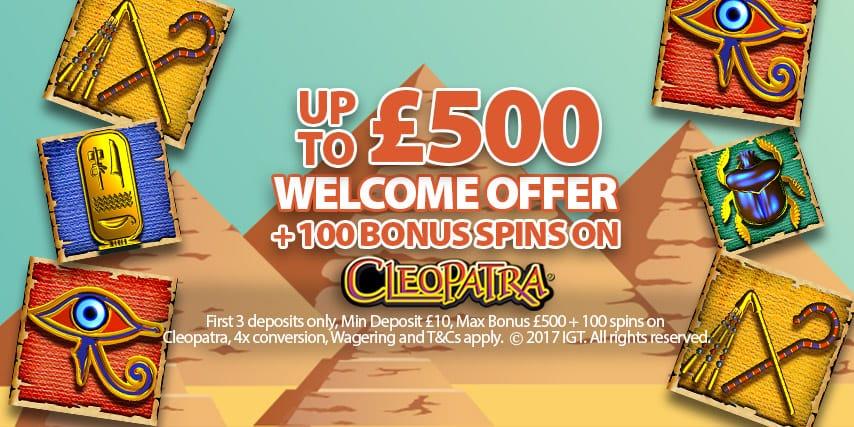 Up To £500 in Casino Bonuses