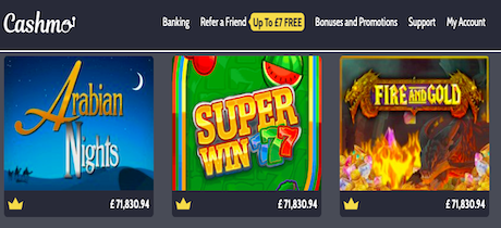 cashmo android casino free spins